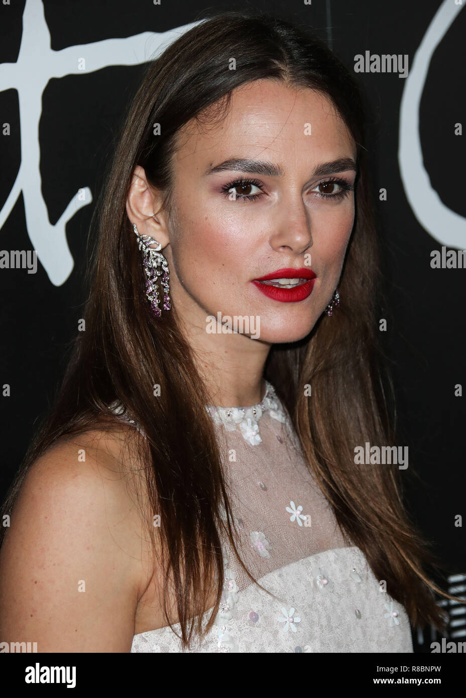 BEVERLY HILLS, LOS ANGELES, CA, USA - SEPTEMBER 14: Actress Keira Knightley arrives at the Los Angeles Premiere Of Bleecker Street Media's 'Colette' held at the Samuel Goldwyn Theater at The Academy of Motion Picture Arts and Sciences on September 14, 2018 in Beverly Hills, Los Angeles, California, United States. (Photo by Xavier Collin/Image Press Agency) - Stock Image