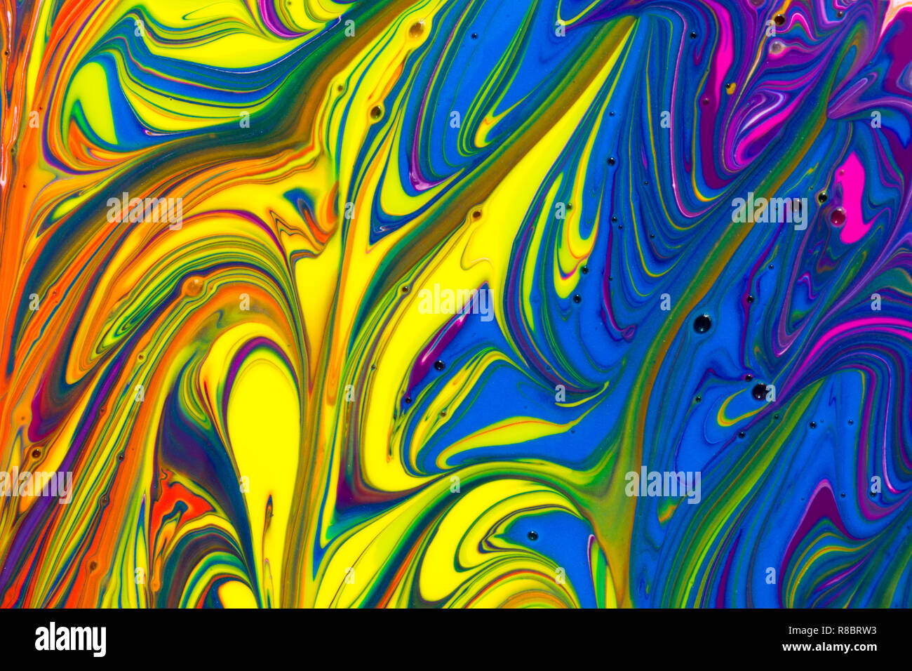 A Colourful Multicoloured Rainbow Abstract Background Of Red Orange Yellow Green Blue Purple Pink And White Liquid Paint Swirls Stock Photo Alamy