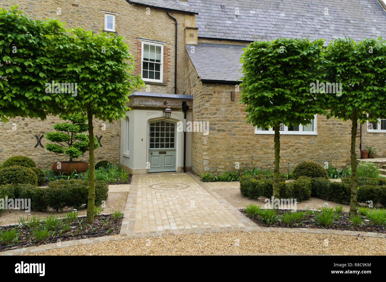 The frontage of the Old Rectory, Quinton, Northamptonshire, UK; an 18th century building set in landscaped gardens by Anoushka Fieler. - Stock Image