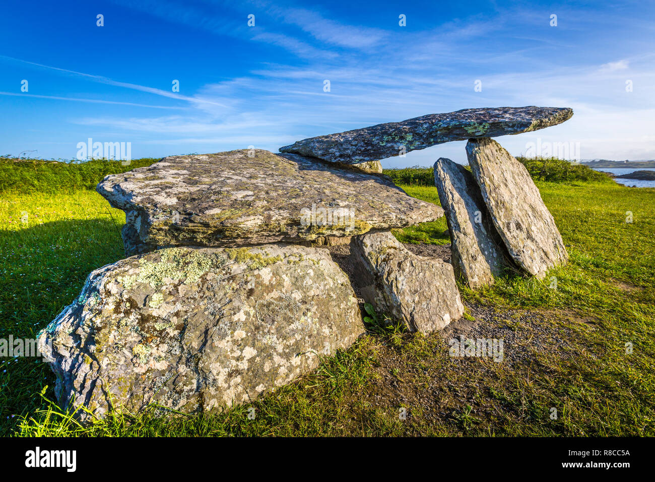 Altar Wedge Tomb, Toormore, West Cork, Ireland - Stock Image