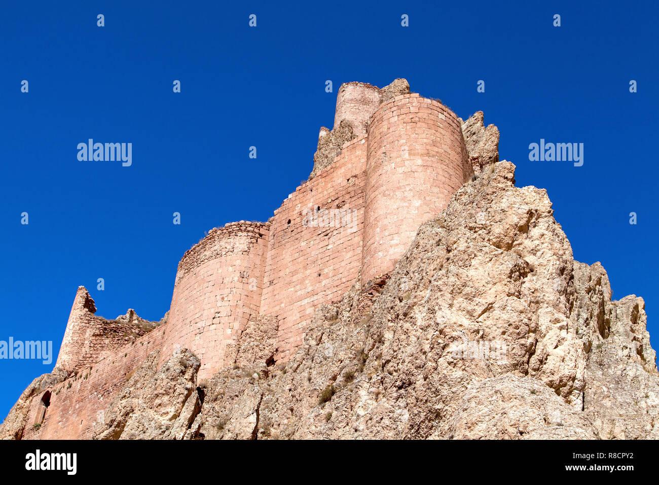 Dogubeyazit Ishak Pasha Palace and Castle Stock Photo