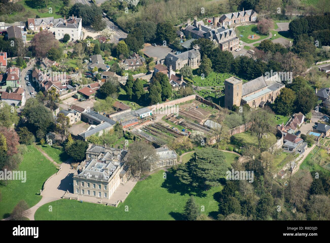 Blaise Castle House, Henbury, Bristol, 2018. Blaise Castle House was built in 1766. The gardens contain a Grade II listed folly castle. The surrounding park was designed by Humphry Repton in the early 19th century. - Stock Image