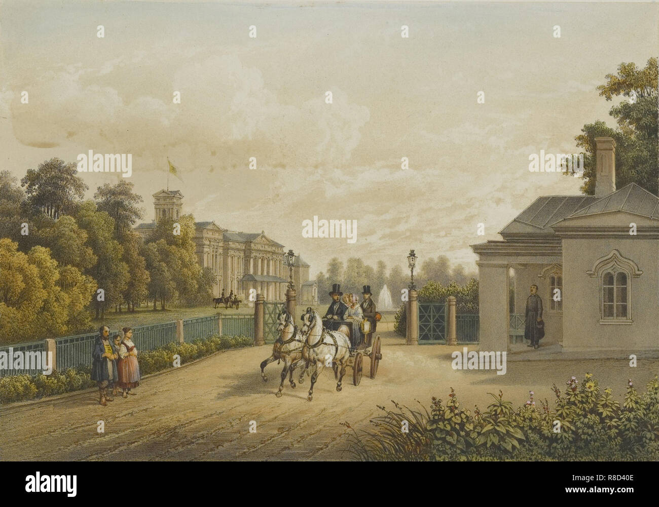 Verkiai Palace, 1847-1852. Private Collection. - Stock Image