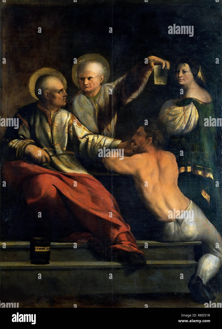 Saint Cosmas and Saint Damian, Between 1534 und 1540. Found in the Collection of Galleria Borghese, Rome. - Stock Image