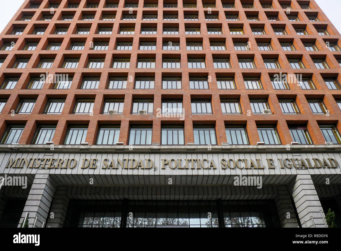 Ministry of Health, social policy and equality, Madrid, Spain - Stock Image