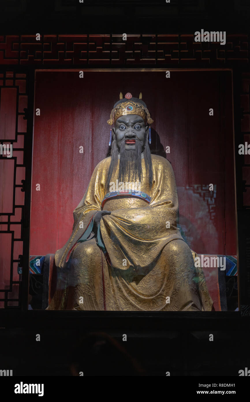 Wuhou Temple - legendary rulers - statutes of emperor - Stock Image