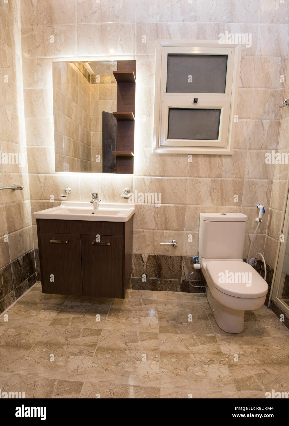 Interior Design Of A Luxury Show Home Bathroom With Sink Unit And