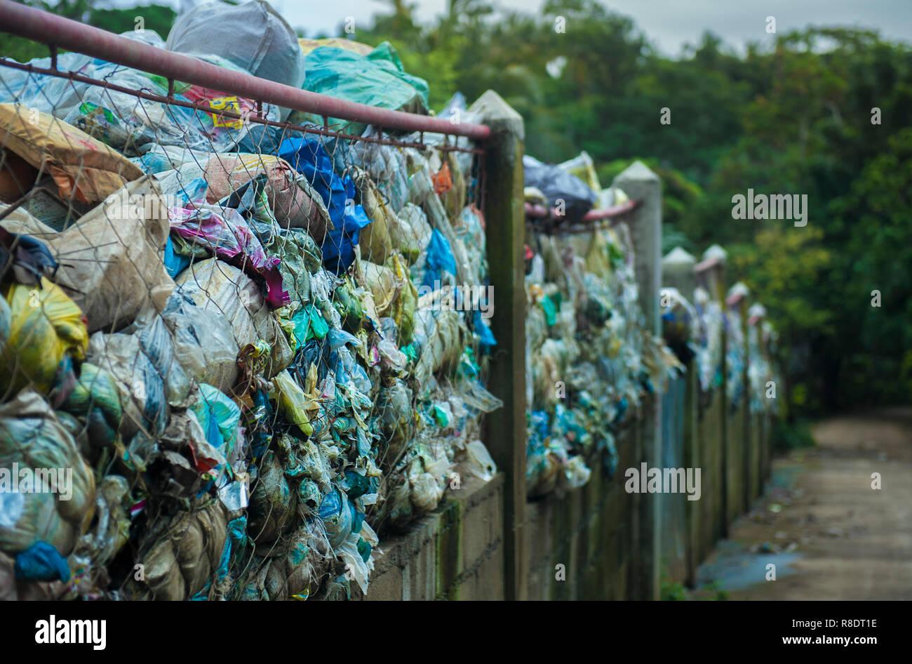 Landfill on Boracay Island, Philippines - Stock Image