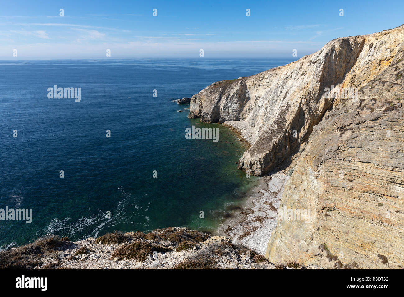 Cap de la Chevre on the Crozon peninsula (Finistere, France) - Stock Image