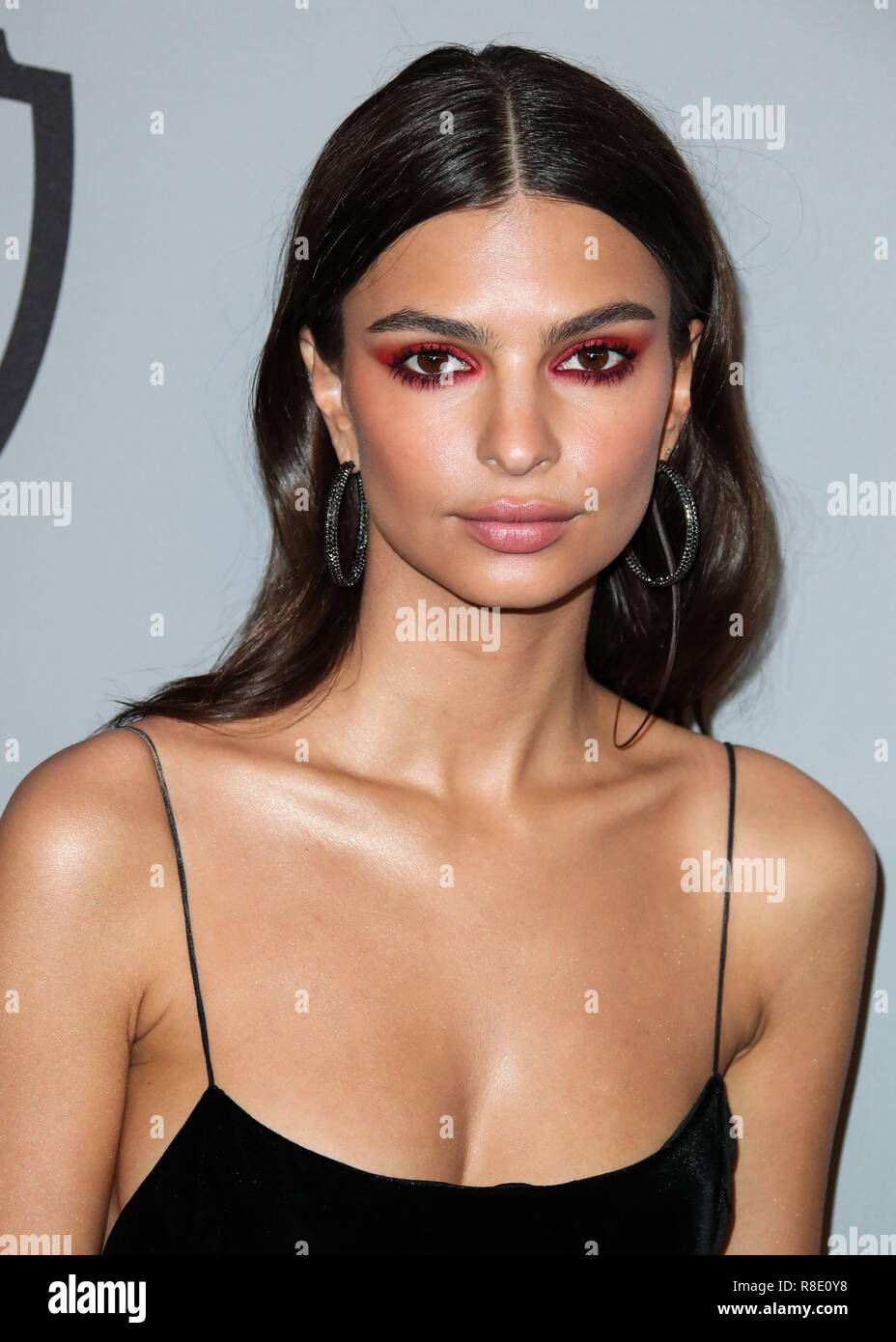 BEVERLY HILLS, LOS ANGELES, CA, USA - JANUARY 07: Emily Ratajkowski at the 2018 InStyle And Warner Bros. Pictures Golden Globe Awards After Party held at The Beverly Hilton Hotel on January 7, 2018 in Beverly Hills, Los Angeles, California, United States. (Photo by Xavier Collin/Image Press Agency) Stock Photo