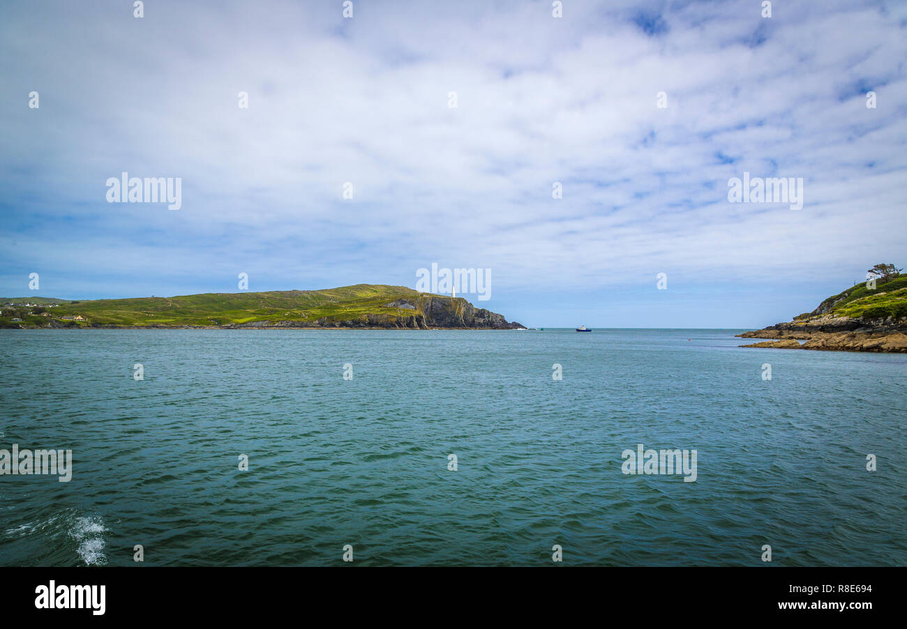 walk to the White Beacon near Baltimore, West Cork, Ireland - Stock Image