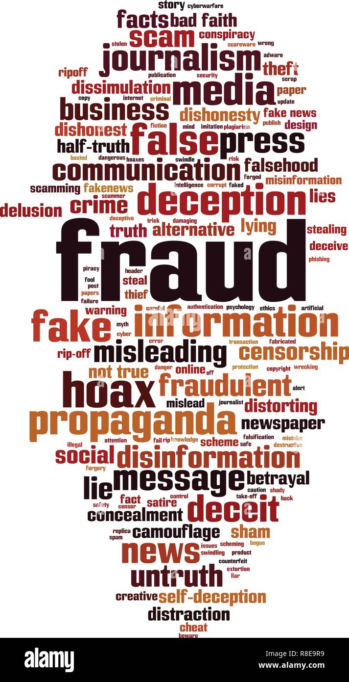 Fraud word cloud concept. Vector illustration - Stock Vector