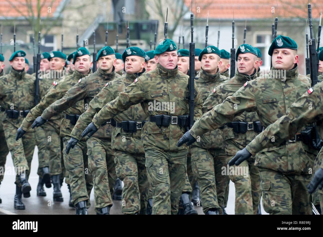 Multinational Division North East MND-NE Headquarters in Elblag, Poland. December 6th 2018 © Wojciech Strozyk / Alamy Stock Photo - Stock Image