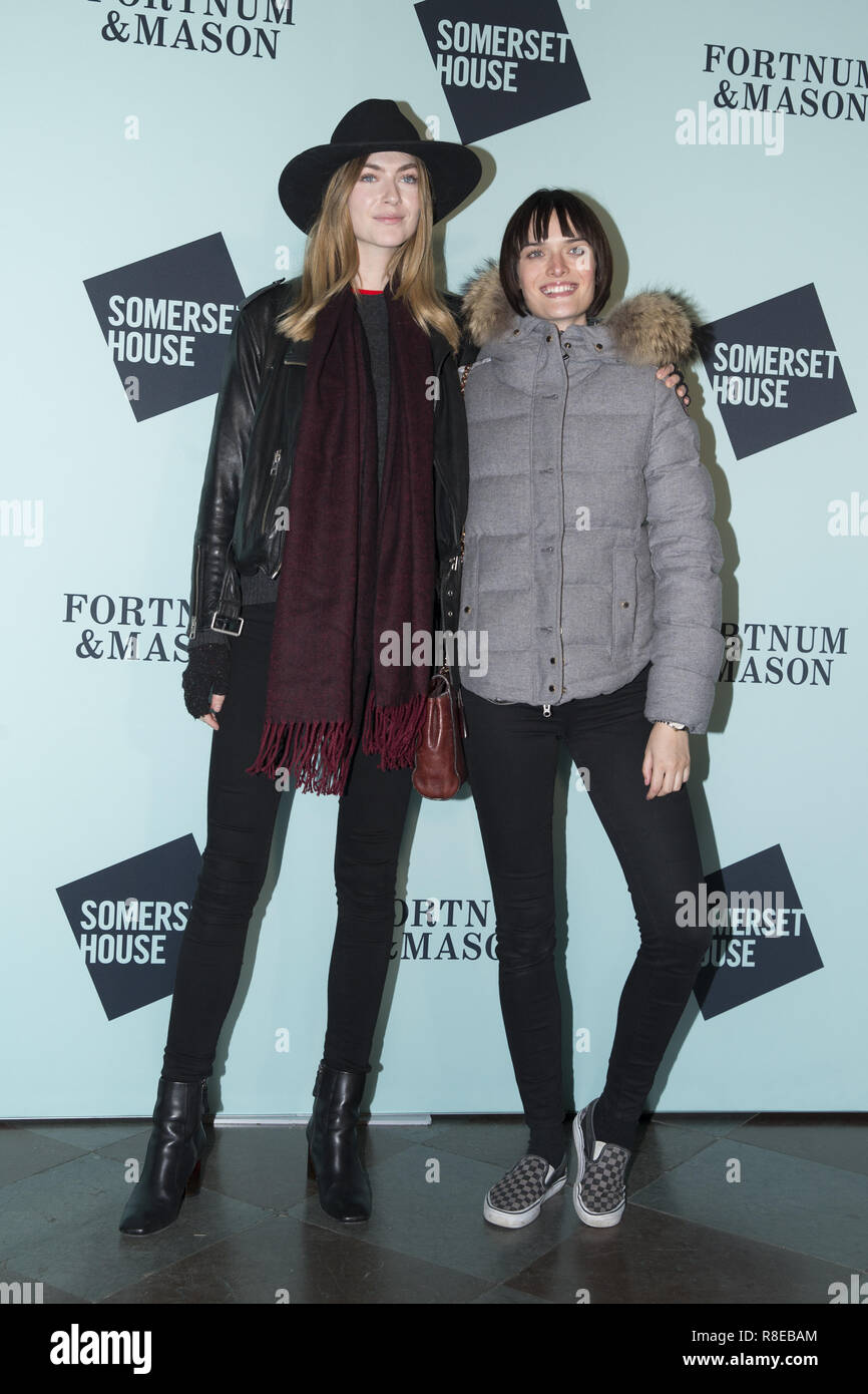 Skate at Somerset House with Fortnum & Mason Launch Party  Featuring: Eve Delf Where: London, United Kingdom When: 13 Nov 2018 Credit: Luke Hannaford/WENN - Stock Image
