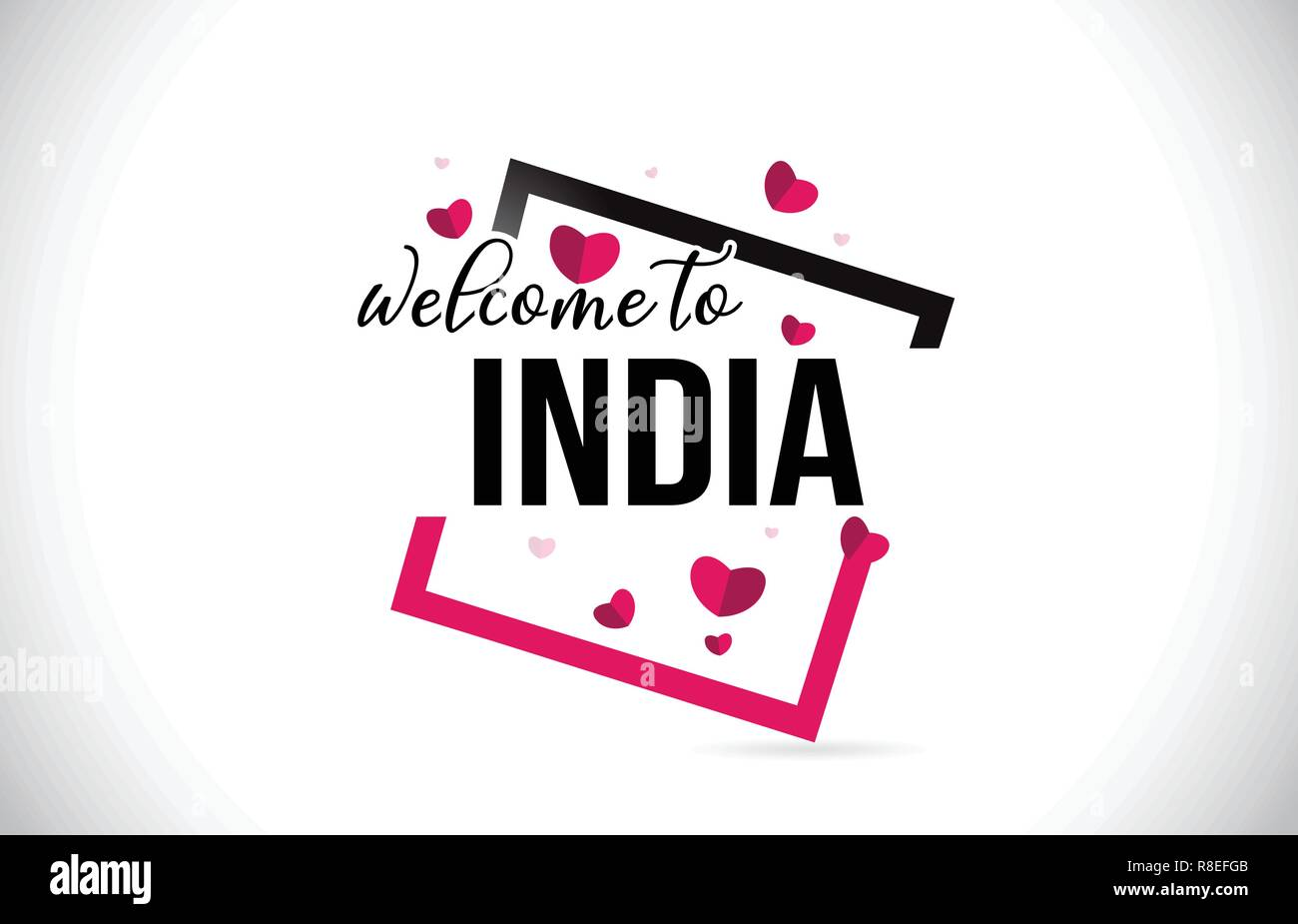 Welcome Sign And India Stock Photos & Welcome Sign And India