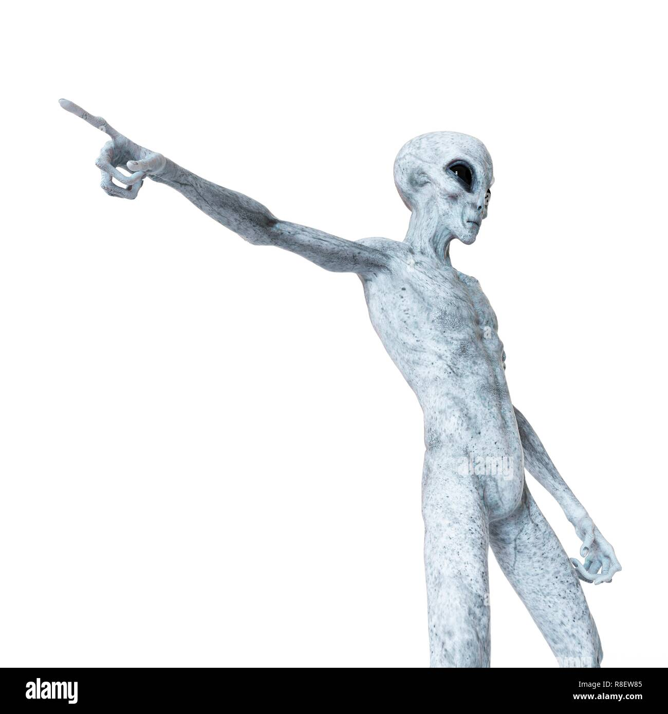 Illustration of a humanoid alien. - Stock Image