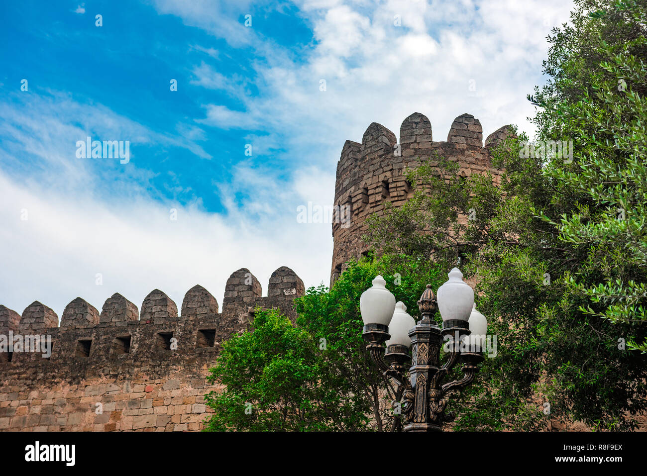 Ancient fortress wall - Stock Image