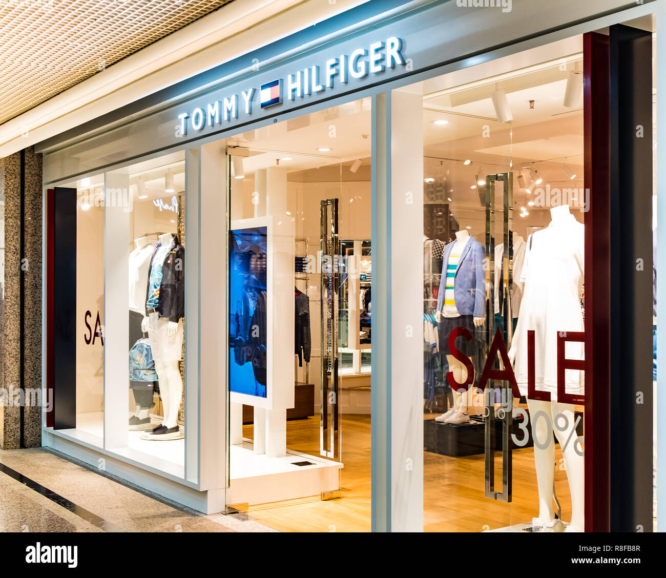 c794b633 Hong Kong, April 7, 2019: Tommy Hilfiger store in Hong Kong Stock ...