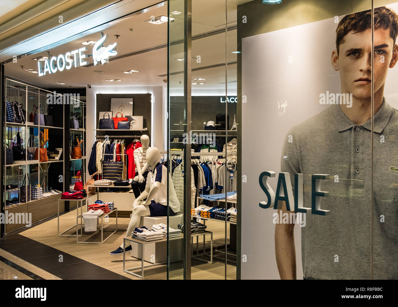 e8d09bab3655 Lacoste Store Stock Photos   Lacoste Store Stock Images - Alamy