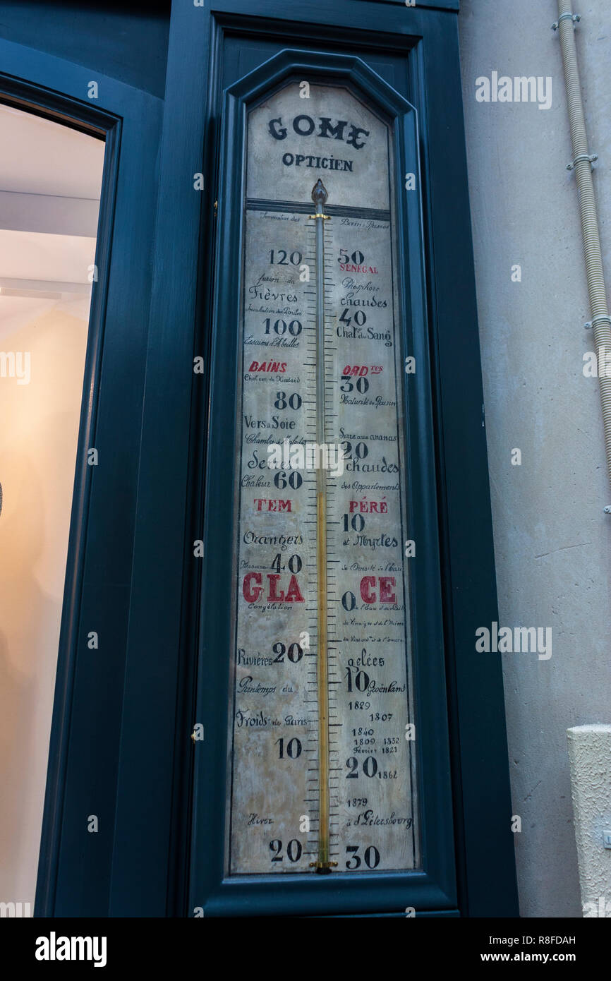 Thermometer at former