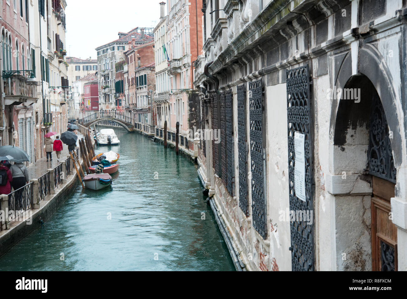 Venice la Sérénissime. Discovery of the city with canals, gondolas and its buildings - Stock Image