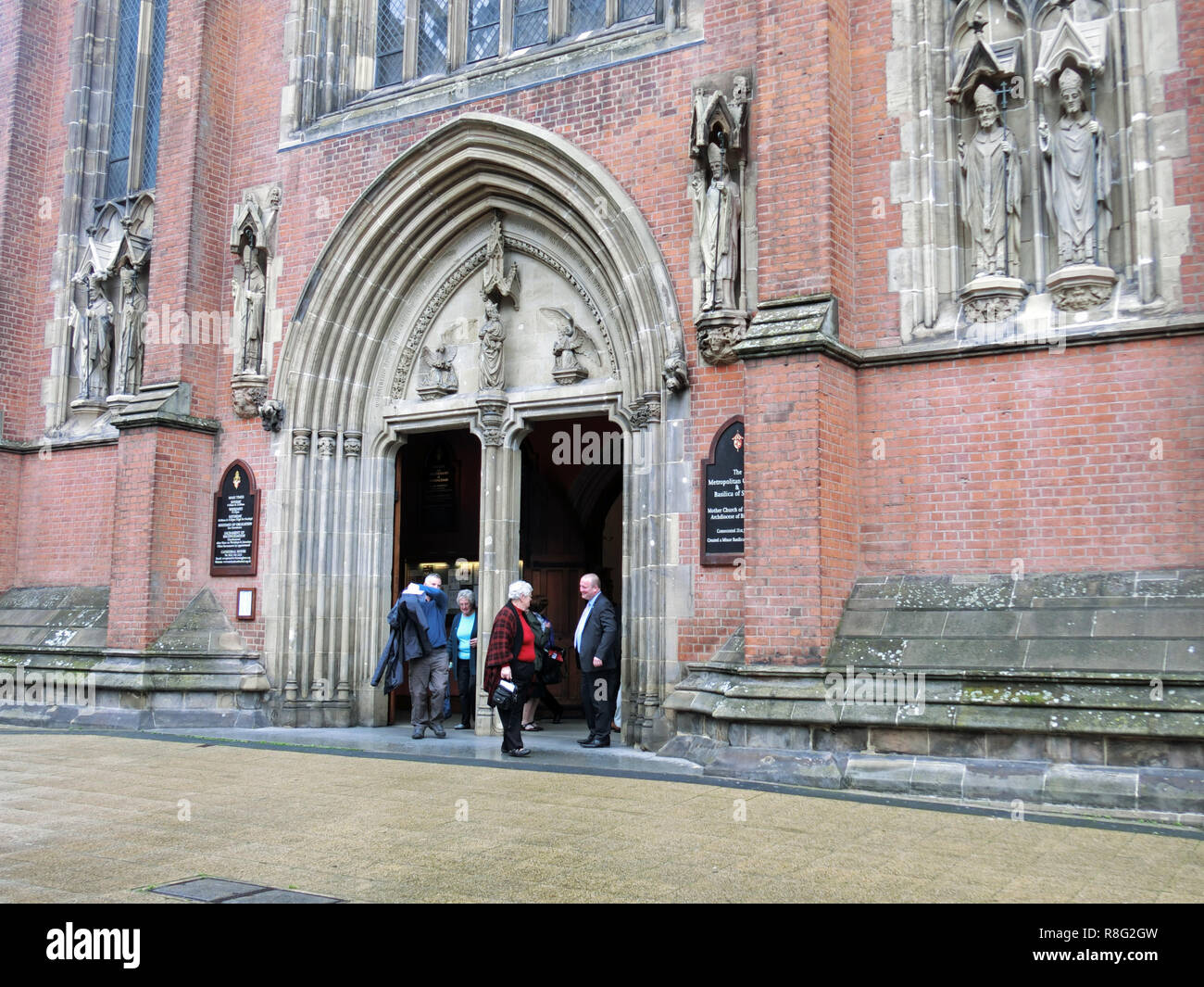 The Metropolitan Cathedral Church and Basilica of Saint Chad or St Chads Cathedral ( Roman Catholic ), Queensway, Birmingham, England, UK - Stock Image