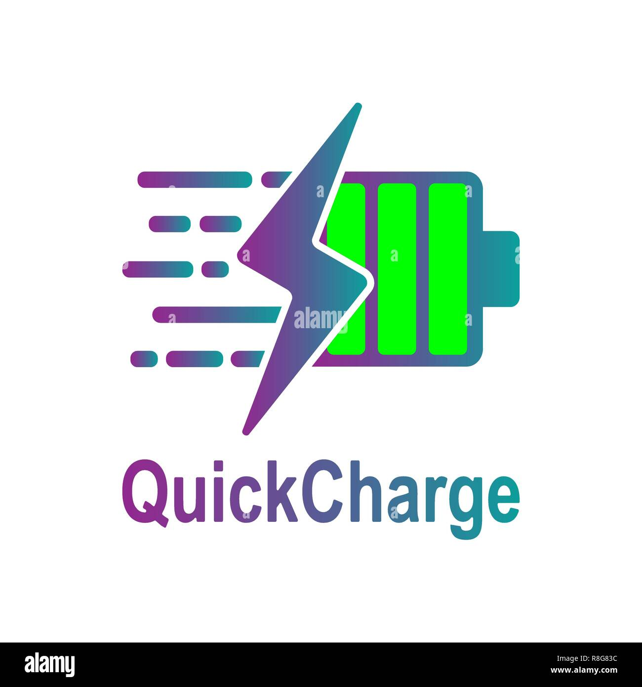 Battery Charging vector icon. Quick and fast charge icon. Vector. EPS 10 - Stock Vector