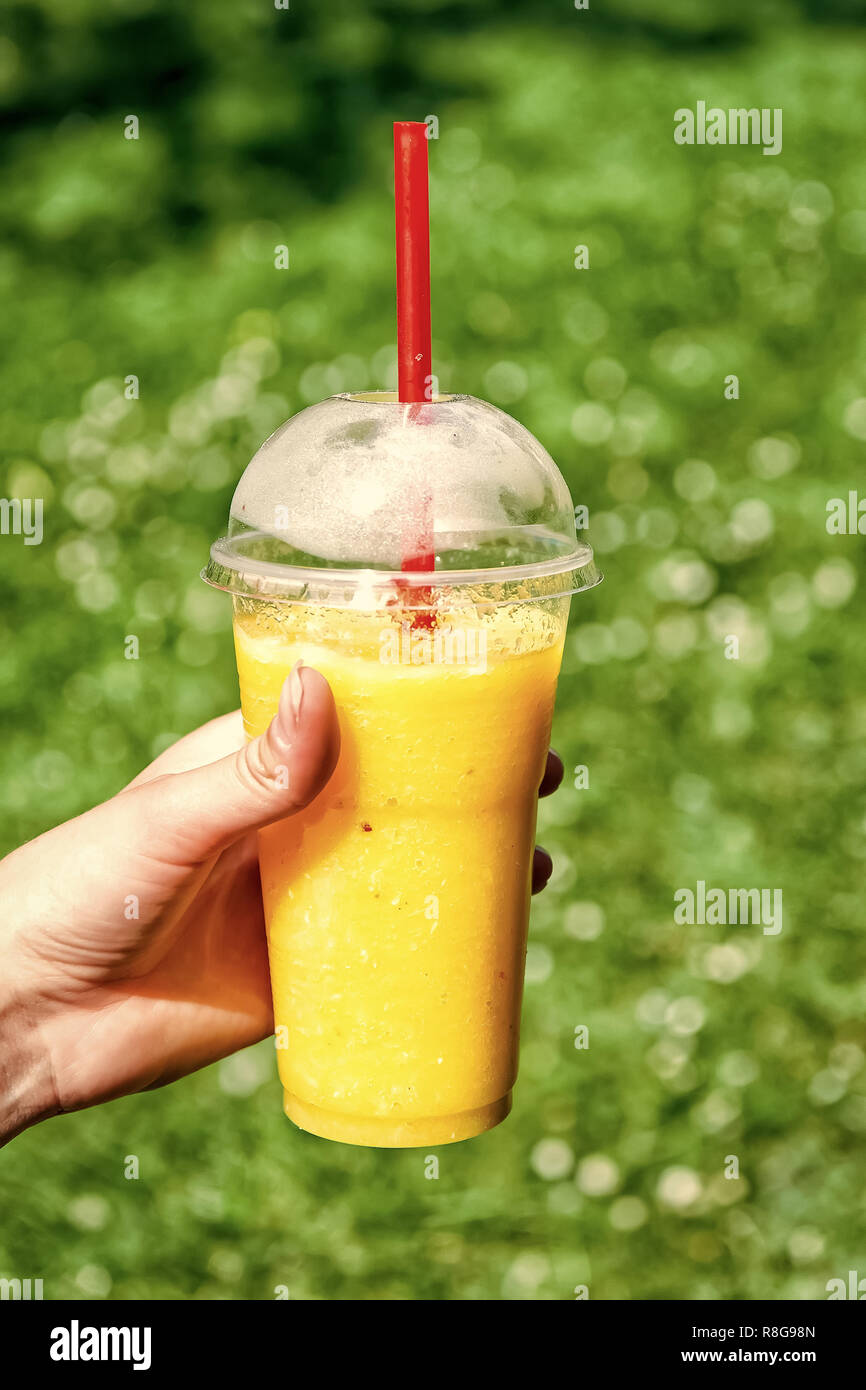 Young Girl Having A Good Morning Healthy Breakfast Smoothie Drink