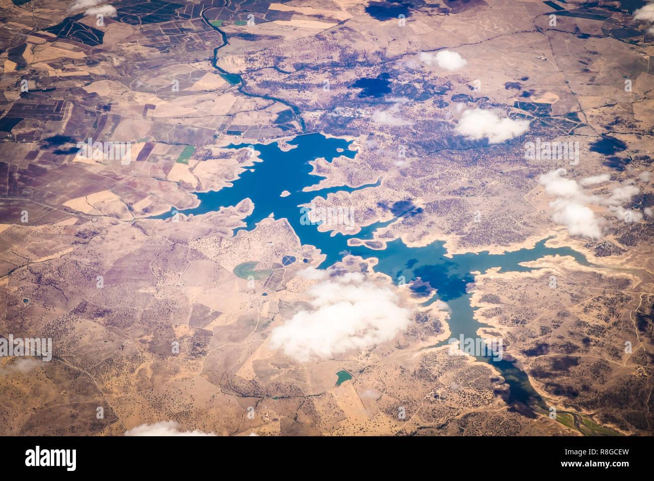 Luftaufnahme über Portugal oder Spanien - Stock Image