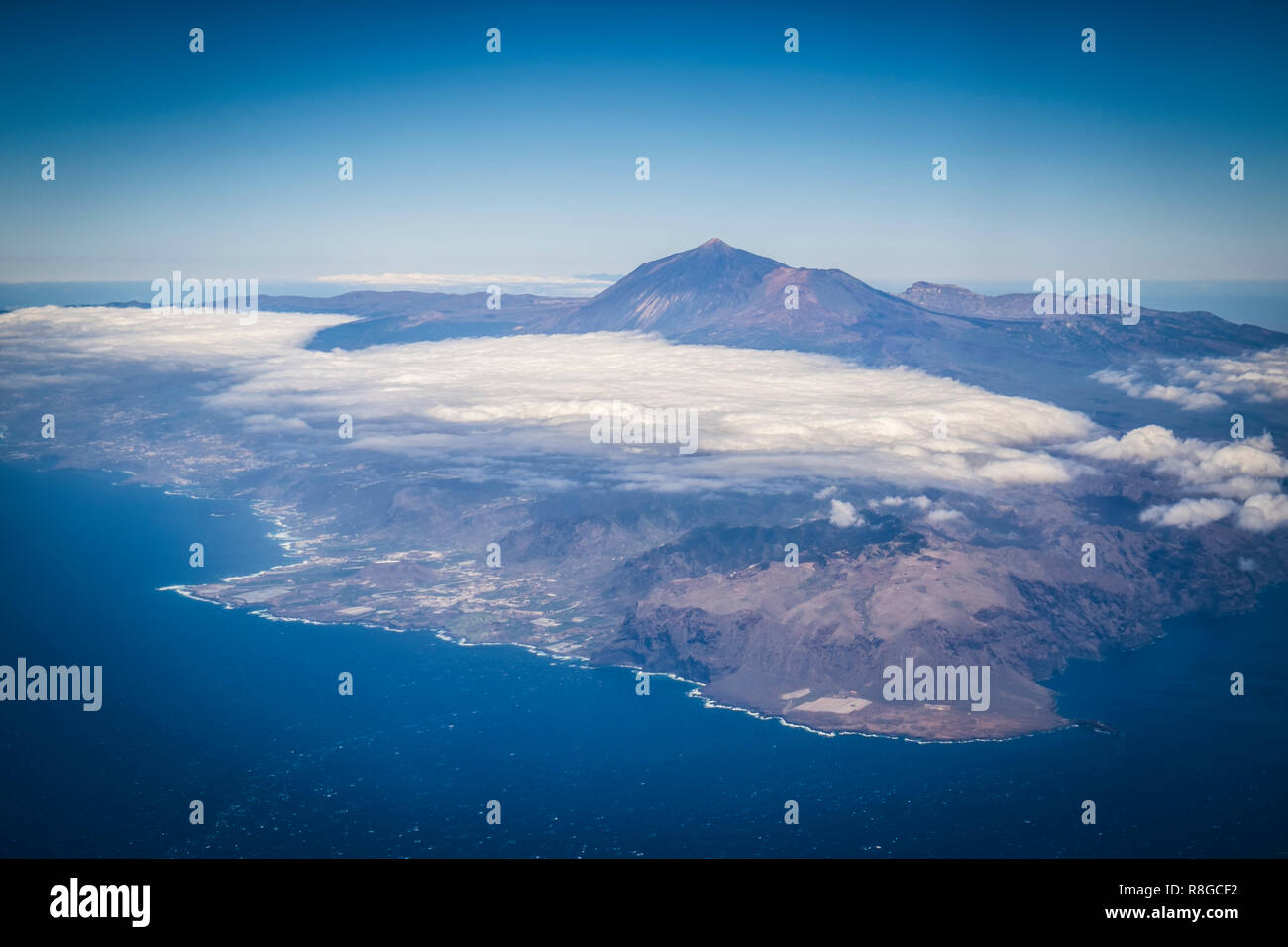 Luftaufnahme von Teneriffa, Spanien - Stock Image