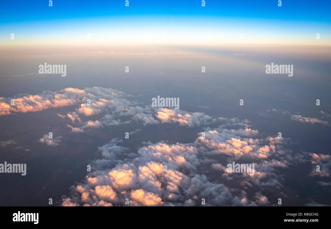 Luftaufnahme über Spanien - Stock Image