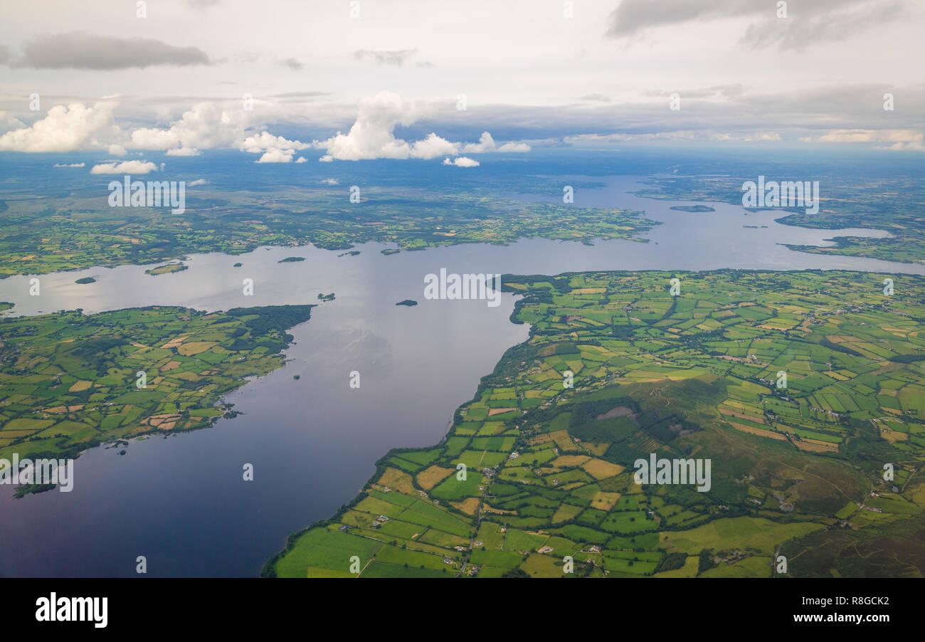 Luftaufnahme vom River Shannon, Irland - Stock Image