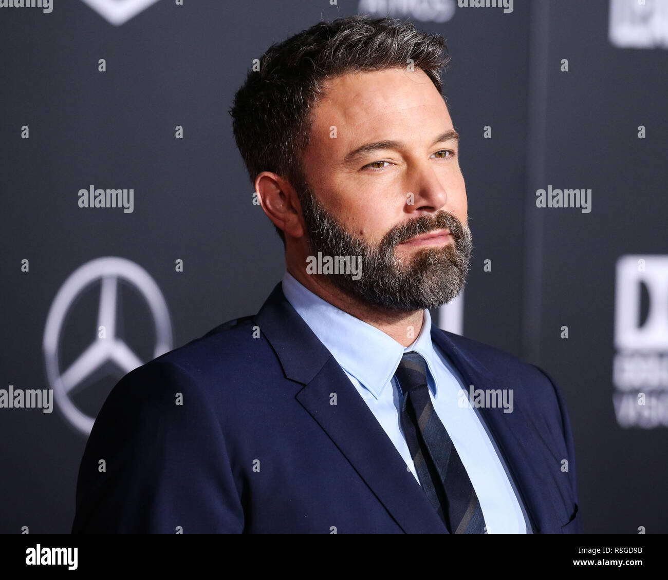 HOLLYWOOD, LOS ANGELES, CA, USA - NOVEMBER 13: Ben Affleck arrives at the World Premiere Of Warner Bros. Pictures' 'Justice League' held at the Dolby Theatre on November 13, 2017 in Hollywood, Los Angeles, California, United States. (Photo by Xavier Collin/Image Press Agency) - Stock Image