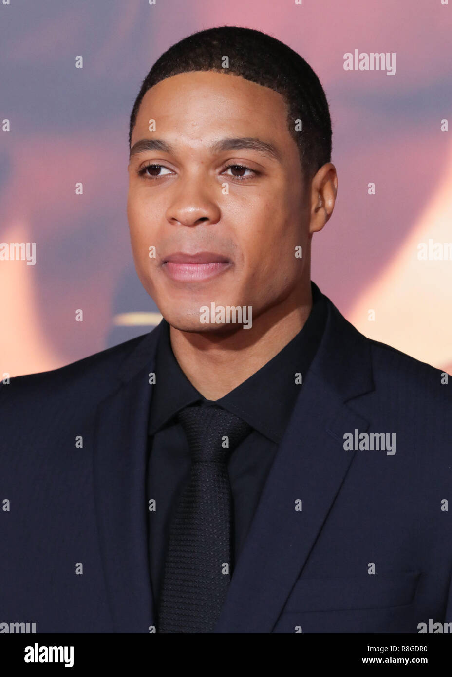 HOLLYWOOD, LOS ANGELES, CA, USA - NOVEMBER 13: Ray Fisher at the World Premiere Of Warner Bros. Pictures' 'Justice League' held at the Dolby Theatre on November 13, 2017 in Hollywood, Los Angeles, California, United States. (Photo by David Acosta/Image Press Agency) - Stock Image