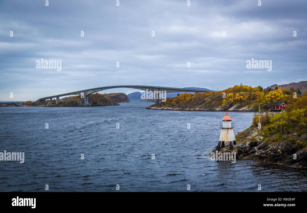 Stokksund in Norwegen - Stock Image
