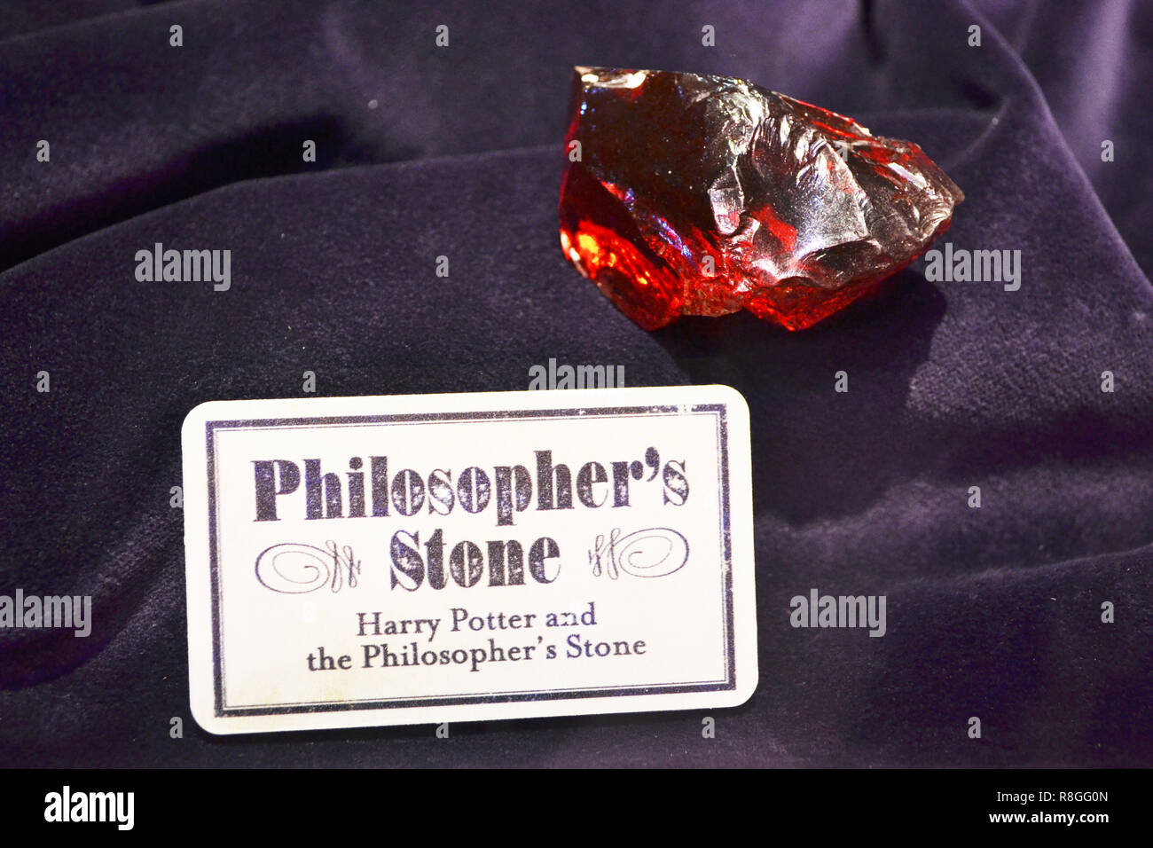 The Philosopher's Stone at the Harry Potter Studios at Leavesden, London, UK - Stock Image