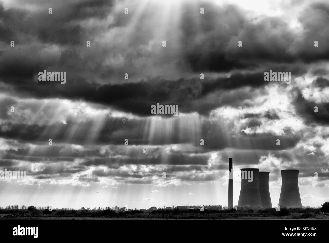 Richborough Power Station in Kent - Stock Image