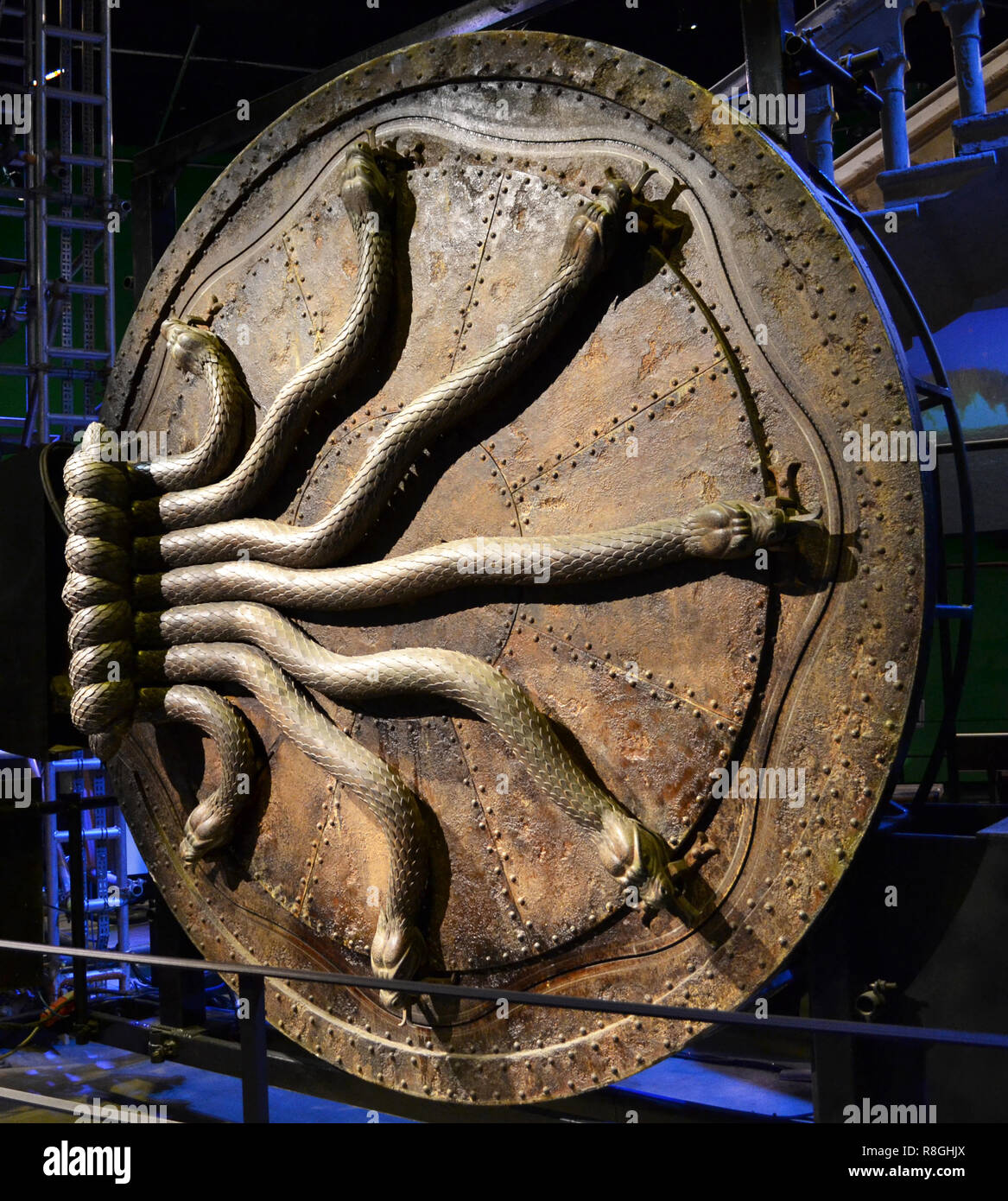 Door to the Chamber of Secrets at the Harry Potter Studios at Leavesden, London, UK Stock Photo