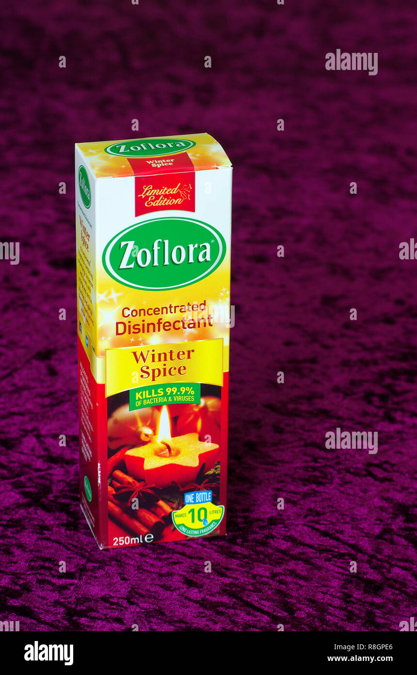 Zoflora Concentrated Disinfectant Winter Spice Fragrance, UK - Stock Image
