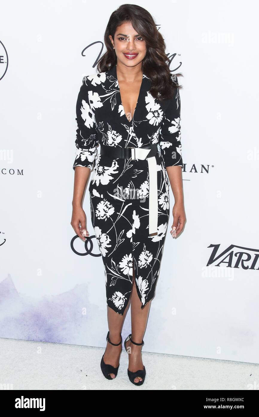 5807c043a4 BEVERLY HILLS, LOS ANGELES, CA, USA - OCTOBER 13: Actress Priyanka Chopra  wearing Michael Kors at Variety's Power Of Women Los Angeles 2017 held at  The ...