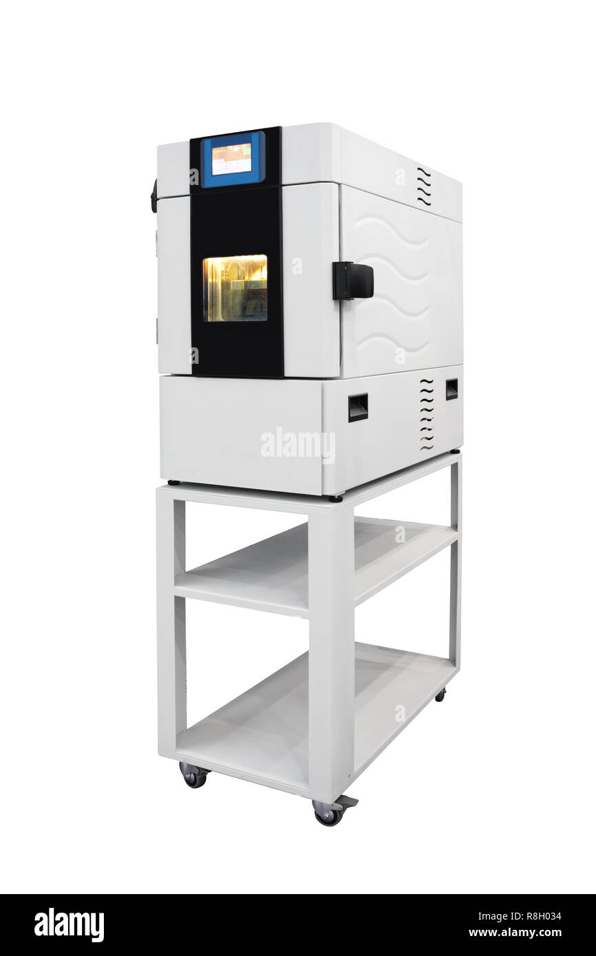 Temperature test chamber isolated on white background - Stock Image