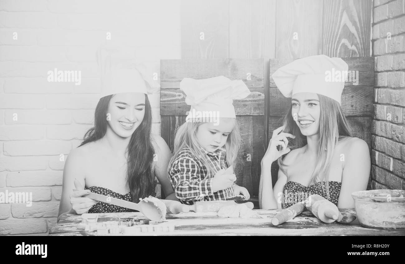 Happy family and childhood concept - Stock Image