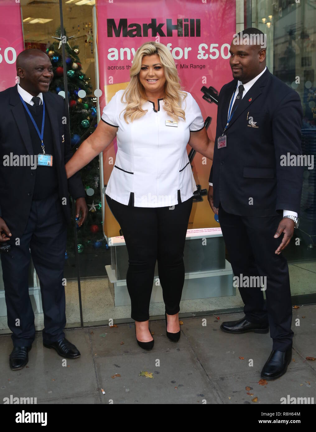 Gemma Collins arrives at Boots to surprise shoppers as an
