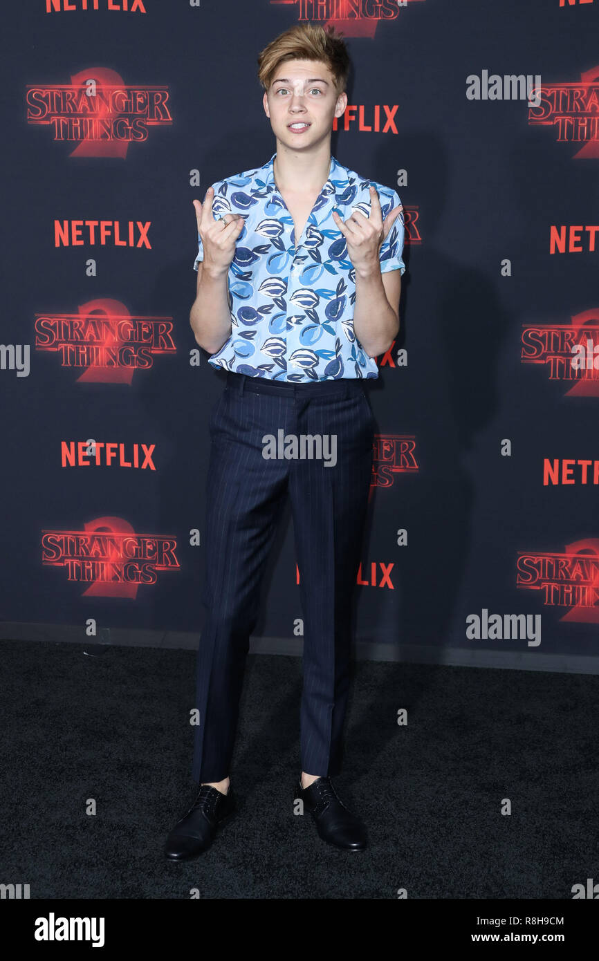 WESTWOOD, LOS ANGELES, CA, USA - OCTOBER 26: Ricky Garcia at the Los Angeles Premiere Of Netflix's 'Stranger Things' Season 2 held at the Westwood Village Theatre on October 26, 2017 in Westwood, Los Angeles, California, United States. (Photo by Xavier Collin/Image Press Agency) - Stock Image