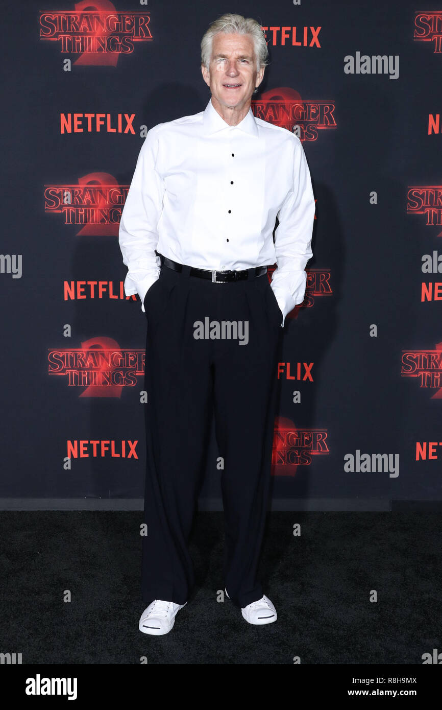 WESTWOOD, LOS ANGELES, CA, USA - OCTOBER 26: Matthew Modine at the Los Angeles Premiere Of Netflix's 'Stranger Things' Season 2 held at the Westwood Village Theatre on October 26, 2017 in Westwood, Los Angeles, California, United States. (Photo by Xavier Collin/Image Press Agency) - Stock Image