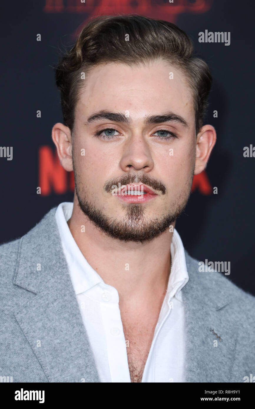 WESTWOOD, LOS ANGELES, CA, USA - OCTOBER 26: Dacre Montgomery at the Los Angeles Premiere Of Netflix's 'Stranger Things' Season 2 held at the Westwood Village Theatre on October 26, 2017 in Westwood, Los Angeles, California, United States. (Photo by Xavier Collin/Image Press Agency) - Stock Image