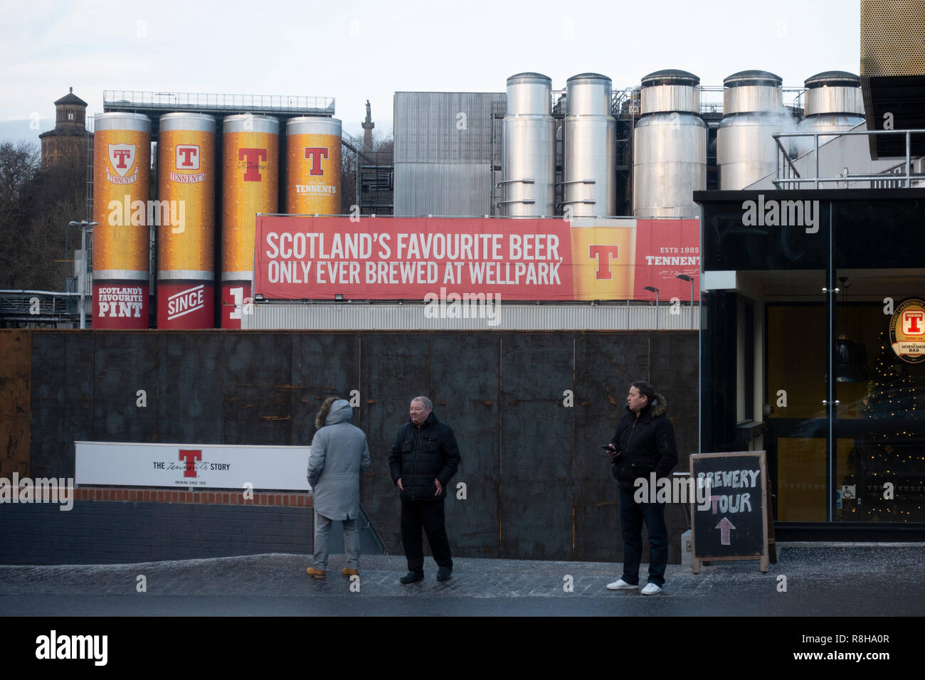 Tennent Caledonian Breweries  Wellpark Brewery in Glasgow, Scotland, UK - Stock Image
