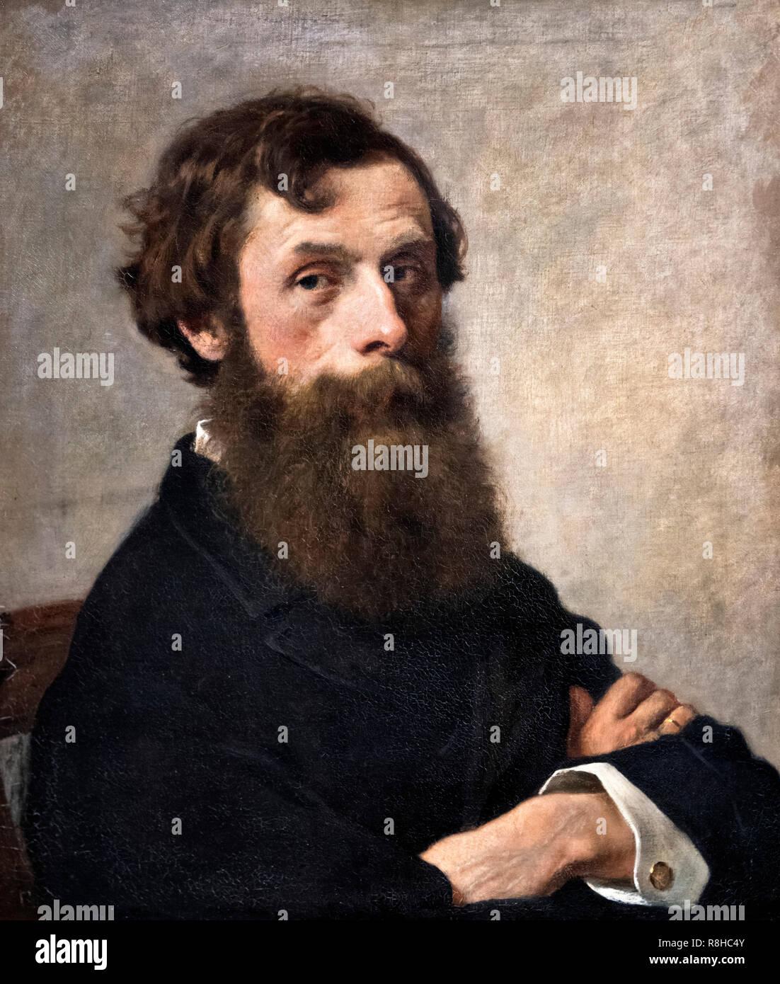 Oswald Adalbert Sickert (1828-1885) by Otto Scholderer (1834-1902), oil on canvas - Stock Image