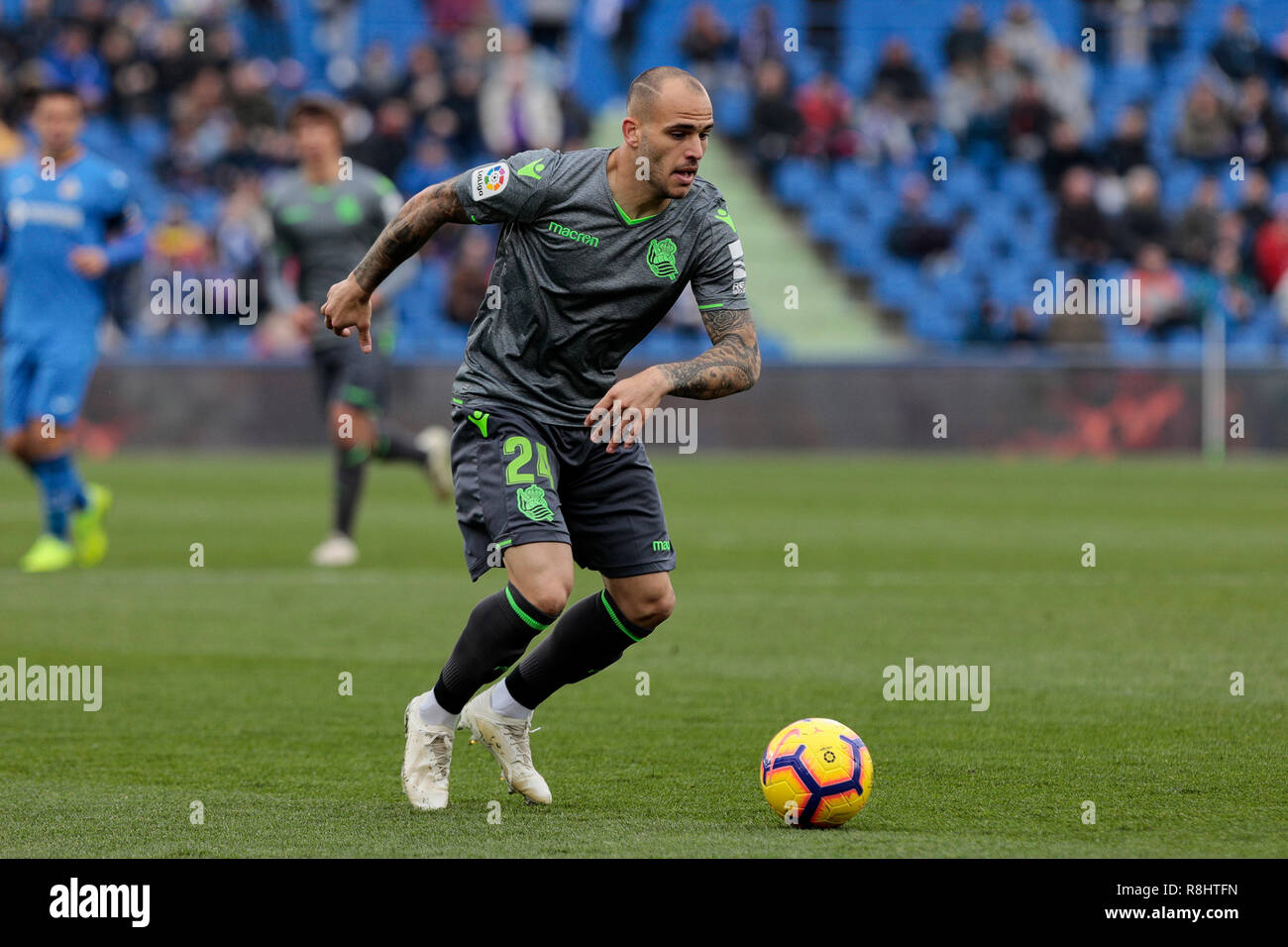 Real Sociedad's Sandro seen in action during the La Liga football match between Getafe CF and Real Sociedad at the Coliseum Alfonso Perez in Getafe, Spain. ( Final score; Getafe CF 1:0 Real Sociedad ) - Stock Image