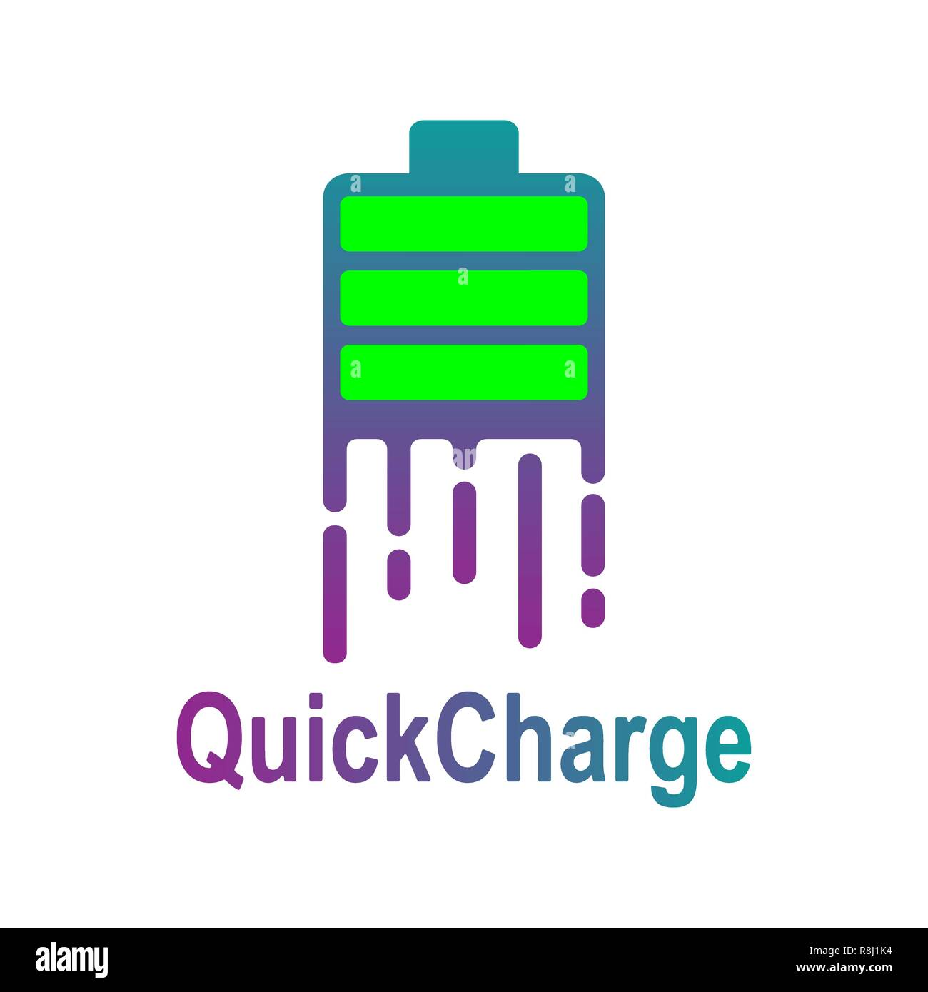 Fast Power Energy Logo Template. Quick Charge logotype. EPS 10 - Stock Vector